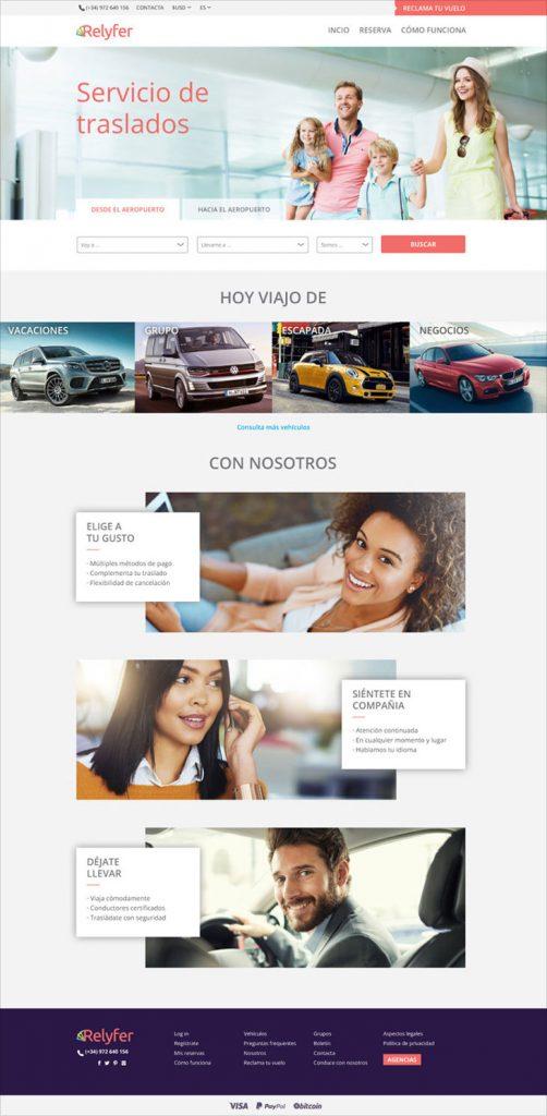 web de transfers per dones amb tots el serveis