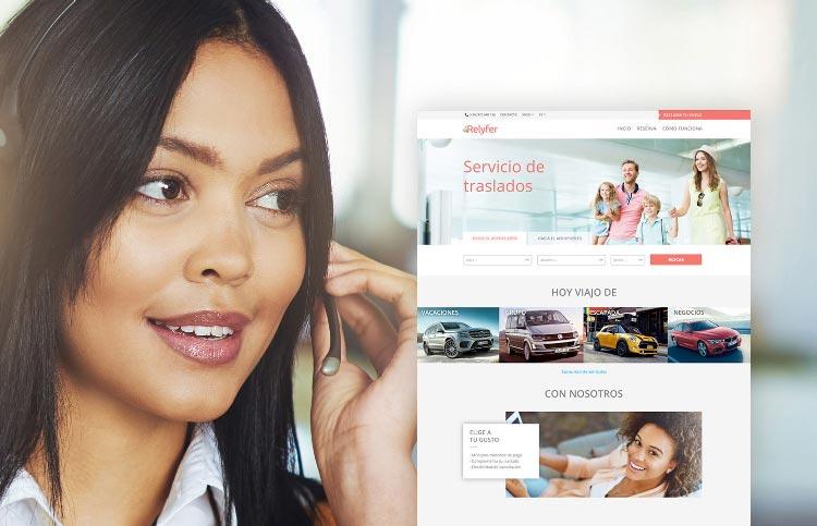 Transfer per a dones, projecte web de Relyfer