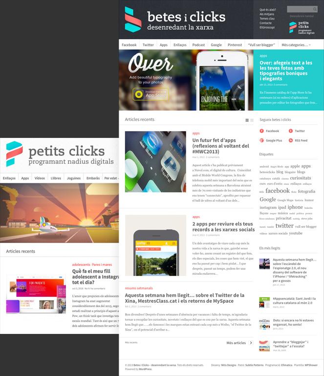 blog sobre tecnologia per adults i pares de disseny modern i simple