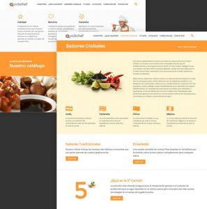 web de serveis de restauració moderna i simple i en fons blanc