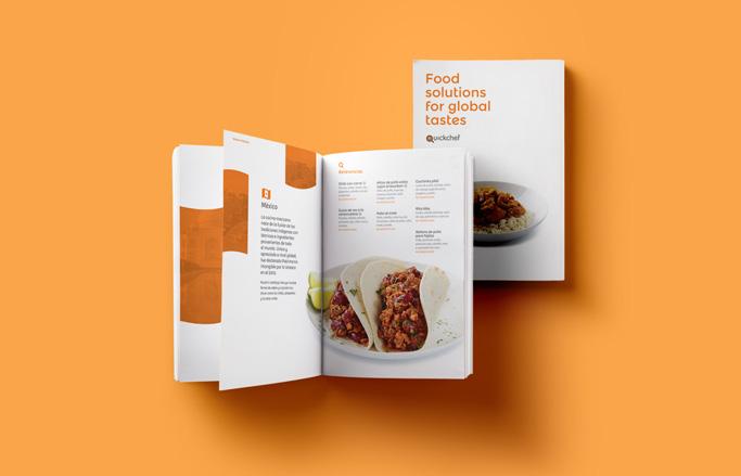 catàleg de serveis de restauració obert amb plat de taco mexicà